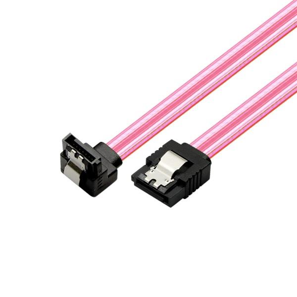 마하링크 SATA3 ㄱ자 Lock 케이블 [0.5M/레드] [ML-S3LLR]