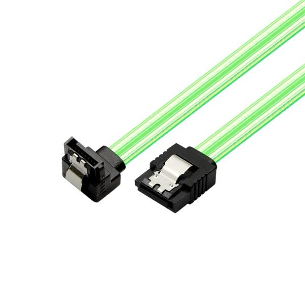 마하링크 SATA3 ㄱ자 Lock 케이블 [0.5M/그린] [ML-S3LLG]