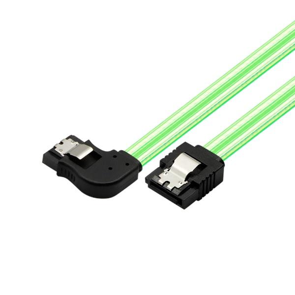 마하링크 SATA3 L형 라운드 Lock 케이블 [0.5M/그린] [ML-S3L9G]