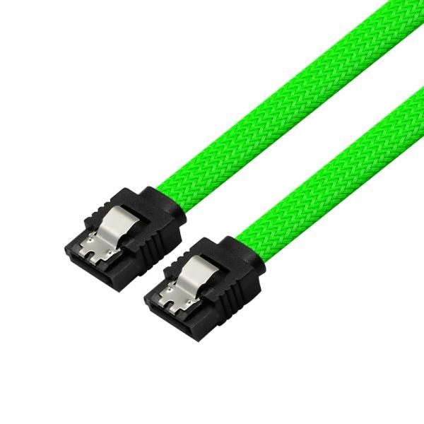 마하링크 SATA3 그물망 Lock 케이블 [0.5M/그린] [ML-S3MGR]