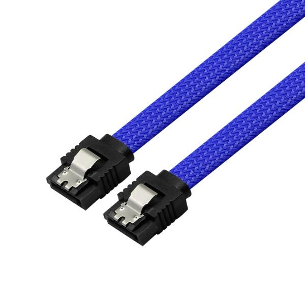 마하링크 SATA3 그물망 Lock 케이블 [0.5M/블루] [ML-S3MBL]
