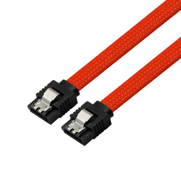 마하링크 SATA3 그물망 Lock 케이블 [0.5M/레드] [ML-S3MRD]