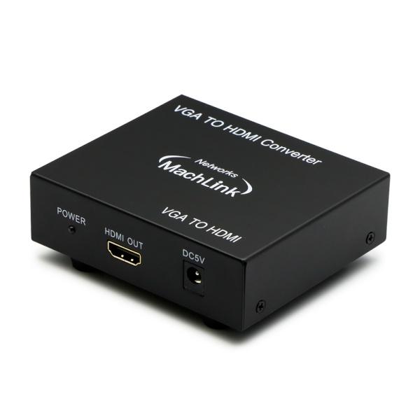 마하링크 VGA to HDMI 컨버터, 오디오 지원 [ML-1VHCP] [블랙]
