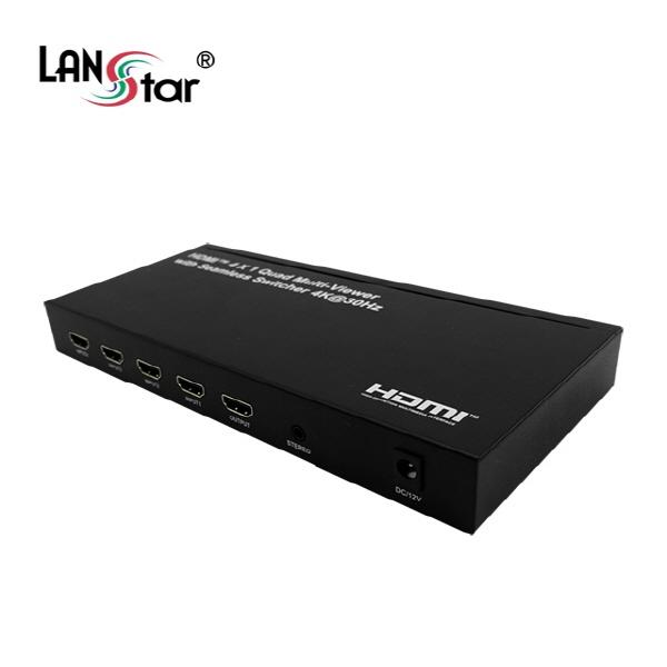 랜스타 LS-HDM204N [모니터 분할기/4:1/30Hz/오디오지원]