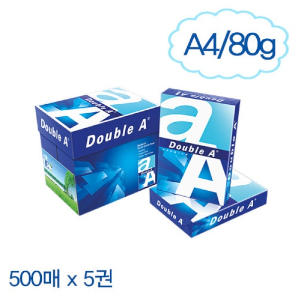 더블에이 A4 복사용지 80g 1Box (2500매) [무료배송]
