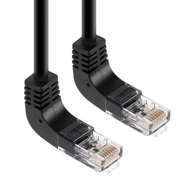 KW  CAT.6 UTP 랜 케이블 위쪽 꺾임 1M [KW601U]