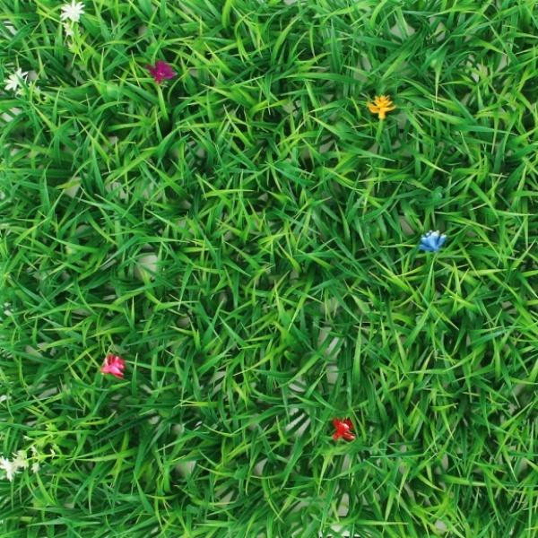 [GTS40491] 숲인테리어 작은꽃 벽장식 인조잔디(60x40cm)