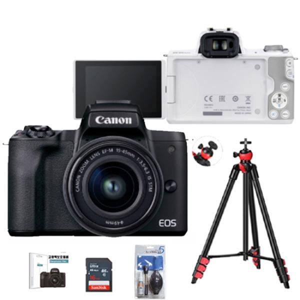 EOS M50 Mark ll(15-45KIT) + 128G + LCD보호필름 + 크리닝킷 + 삼각대