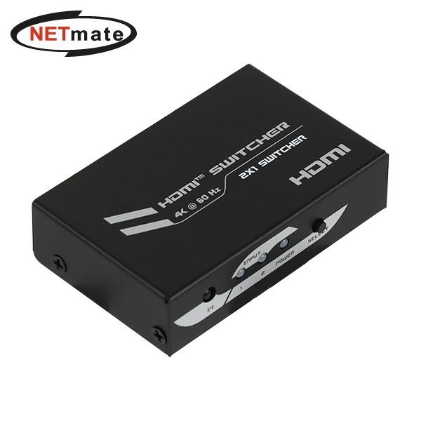 NETmate NM-PTS02 [모니터 선택기/2:1/HDMI/4K/오디오 지원]