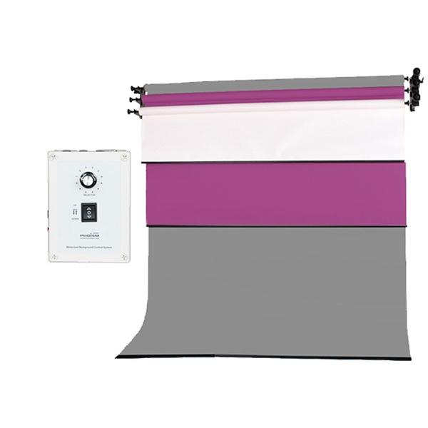 [전동배경] 벽면고정형 3롤 배경지세트 EF-03WR_Full (2.7m)