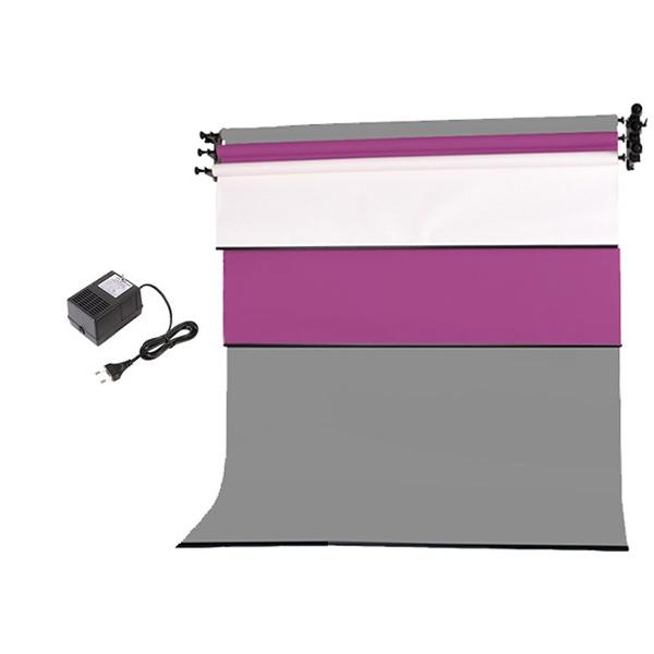 [전동배경] 벽면고정형 3롤 배경지세트 EF-03WR (2.7m)