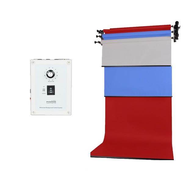 [전동배경] 벽면고정형 3롤 배경지세트 EH-03WR_Full SET(1.3m)