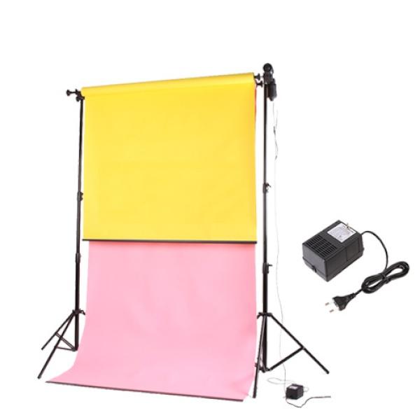 [전동배경] 이동형스탠드 촬영 배경지세트 EM-02 (2롤)