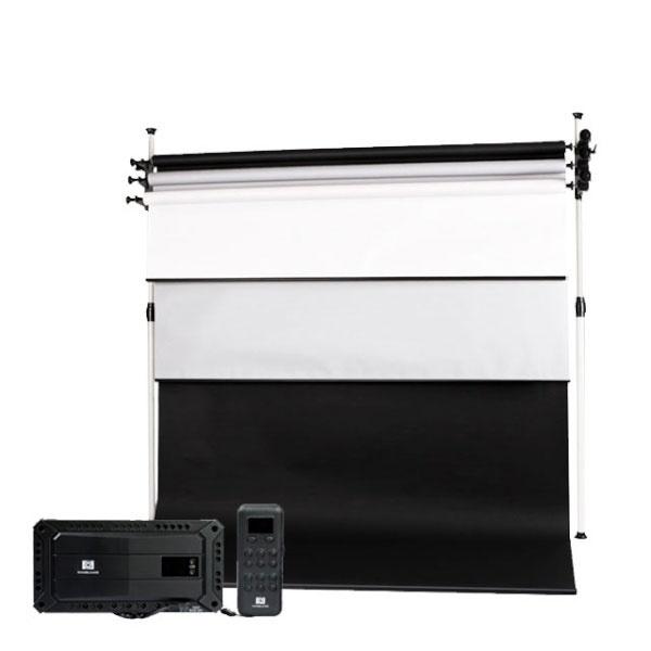 [무선전동배경] 디럭스폴 3롤 배경풀세트 EPF-03W(2.7m)