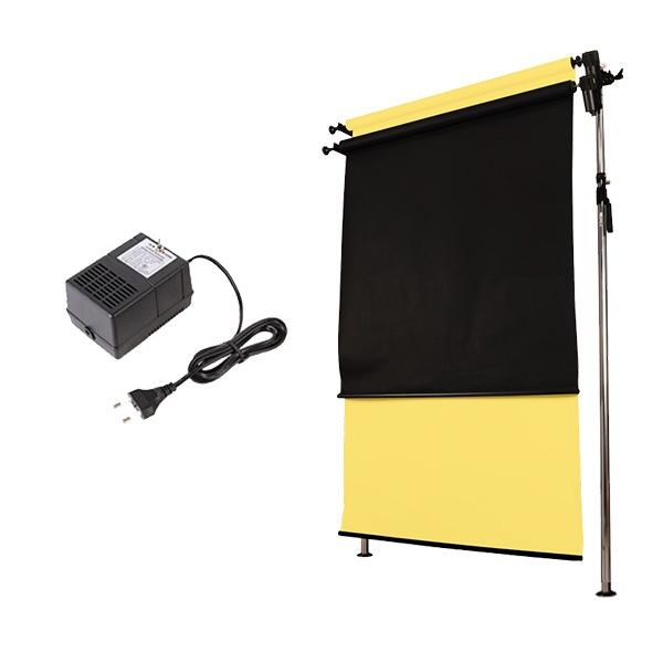 [전동배경] 프리미엄폴 2롤 배경지 풀세트 PE2R-13S (1.3m)