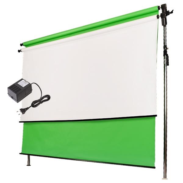 [전동배경] 프리미엄폴 2롤 배경지 풀세트 PE2R-27S (2.7m)