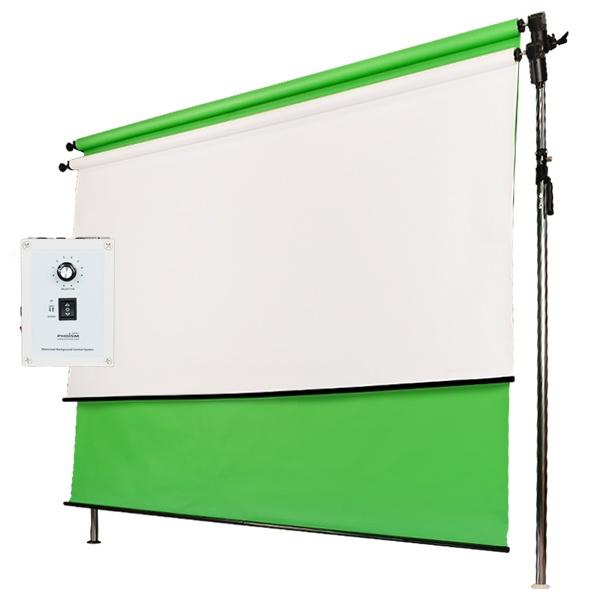 [전동배경] 프리미엄폴 2롤 배경지 풀세트 PE2R-27F (2.7m)