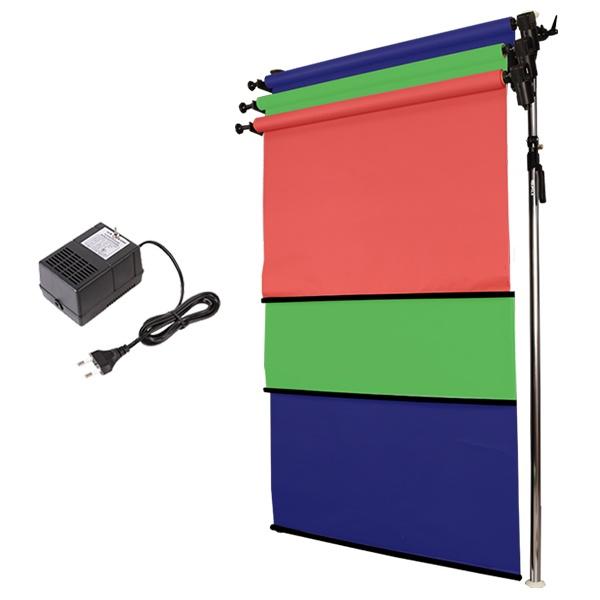 [전동배경] 프리미엄폴 3롤 배경지 풀세트 PE3R-13S (1.3m)