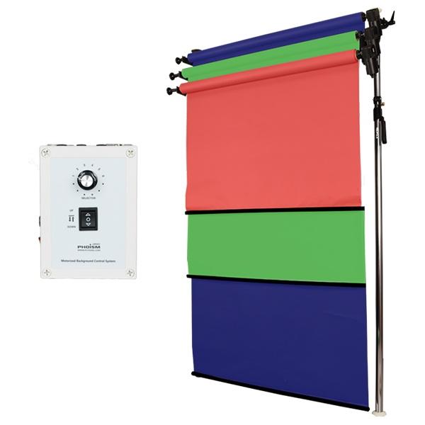 [전동배경] 프리미엄폴 3롤 배경지 풀세트 PE3R-13F (1.3m)