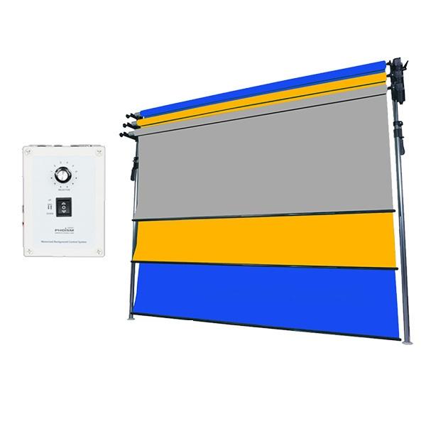 [전동배경] 프리미엄폴 3롤 배경지 풀세트 PE3R-27F (2.7m)