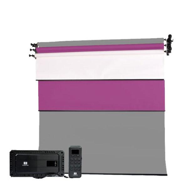 [무선전동배경] 벽면고정형 3롤 세트 EF-03WRW(2.7m)