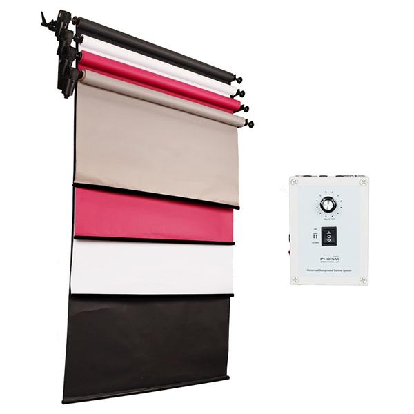 [전동배경] 벽면고정형 4롤 배경지세트 EH-04WR_Full Set(1.3m)