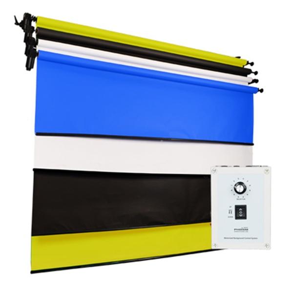 [전동배경] 벽면고정형 4롤 배경지세트 EF-04WR_Full SET(2.7m)