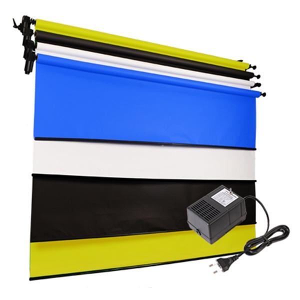 [전동배경] 벽면고정형 4롤 배경지세트 EF-04WR 베이직 세트(2.7m)
