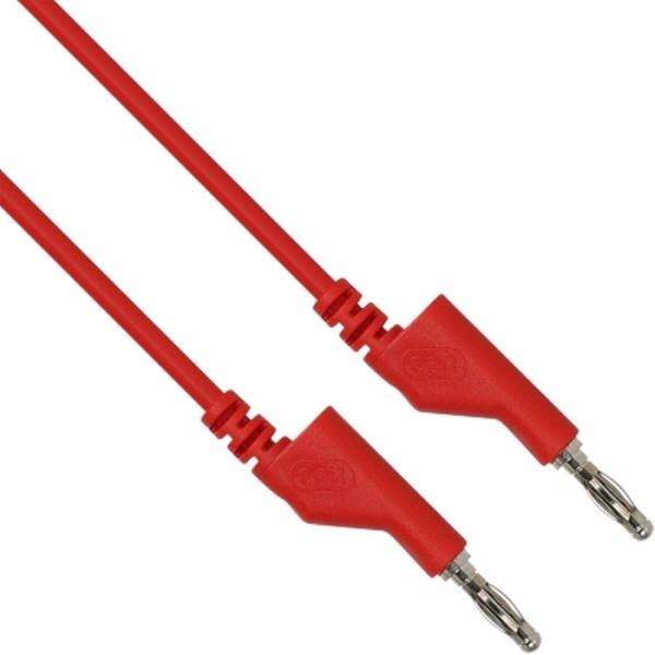 NETmate 바나나 플러그 케이블 레드 [레드/1M] [NMC-BB10R]