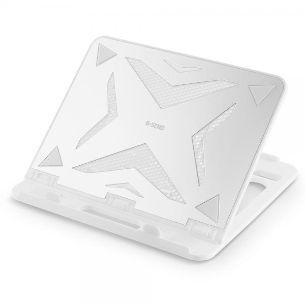 노트북받침대, 알루미늄 상판 BS-500 [화이트]