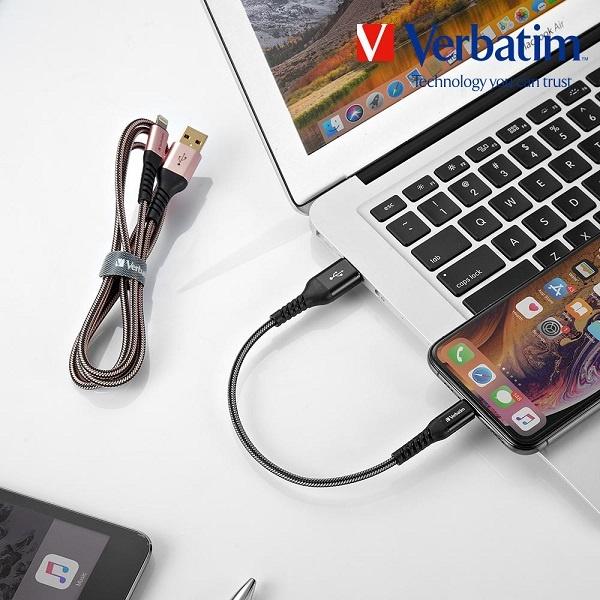 라이트닝 8핀 to USB-A 케블라 케이블 1.2m [블랙/65857]