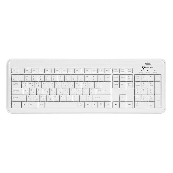 유선키보드, KR-6170 X-Slim [화이트/USB]