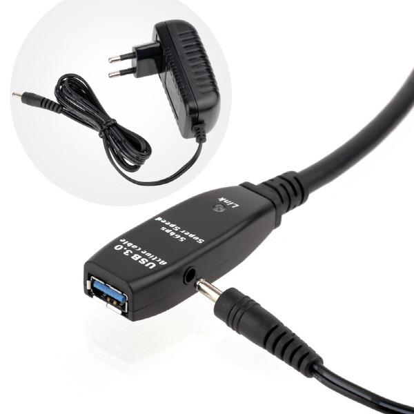 이지넷 USB3.0 리피터 연장 케이블 40M [NEXT-USB40U3PW]