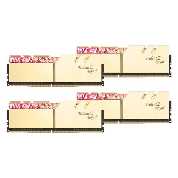 DDR4 64GB PC4-28800 CL14 Trident Z ROYAL 골드 (16GBx4)