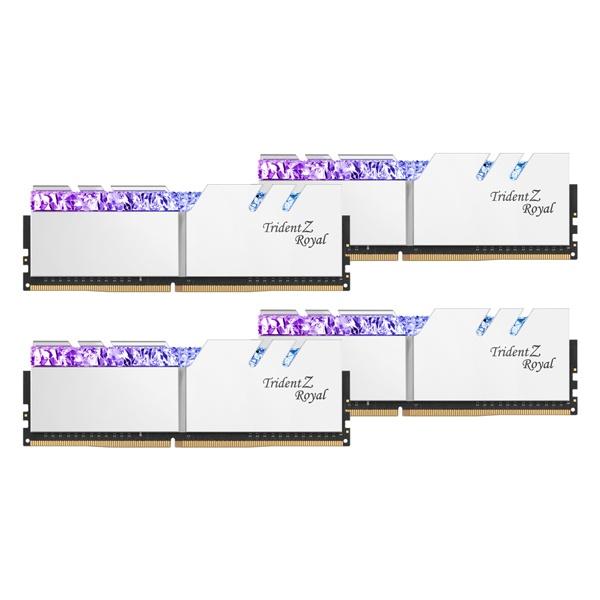DDR4 64GB PC4-28800 CL14 Trident Z ROYAL 실버 (16GBx4)