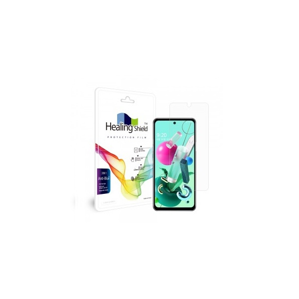 LG Q92용 블루라이트차단 고광택 액정보호필름 2매
