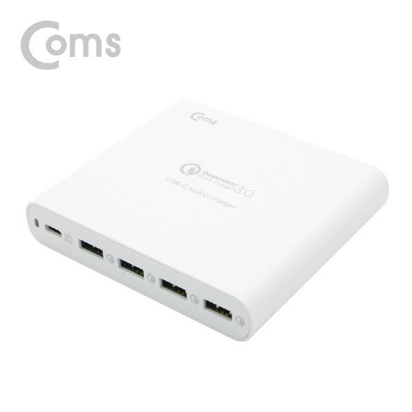 [LV663]  Coms 고속 멀티충전기 (USB 3.0 4Port/Type C 1Port) 80W