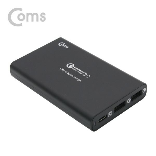 [LV664]  Coms 고속 멀티충전기  (USB 3.0 2Port/Type C 1Port) 40W