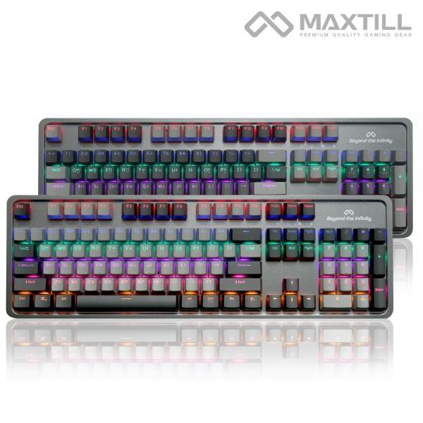 유선 기계식 키보드, TRON G510K V2 축교환, MG2, 청축 [다크그레이/USB]