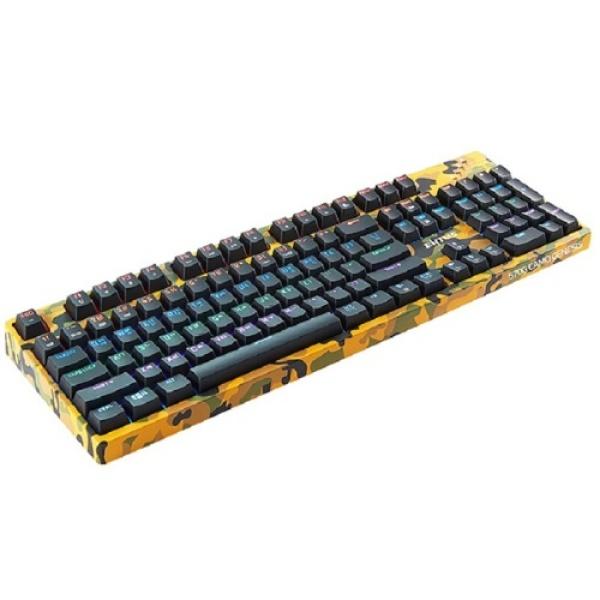 유선 기계식 키보드, ONG ENTUS, OGN-K570G Genesis CAMO 축교환, 광축클릭 [블랙/USB]