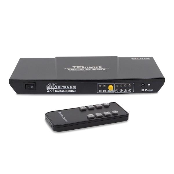 티이스마트 HSP0204A20 [모니터 선택 분배기/2:4/HDMI/4K/오디오 지원]