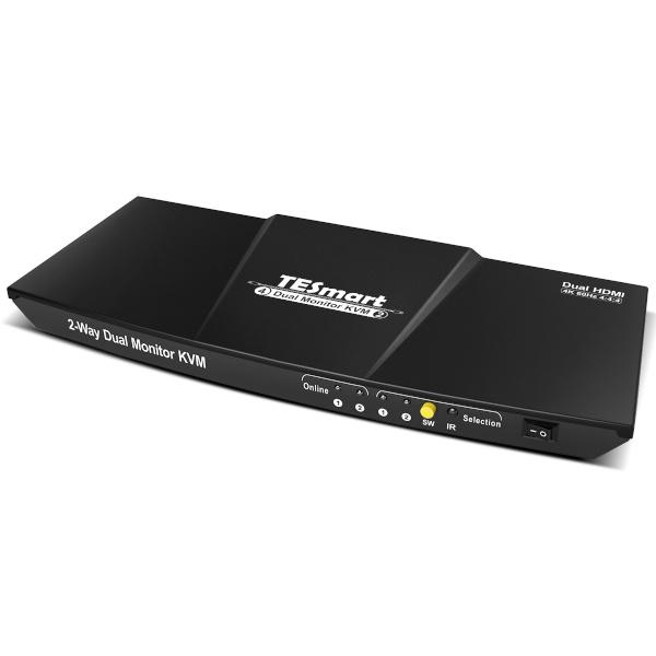 티이스마트 HKS0402A1U [HDMI 듀얼모니터 KVM 스위치/4:1/USB/4K/케이블미포함]