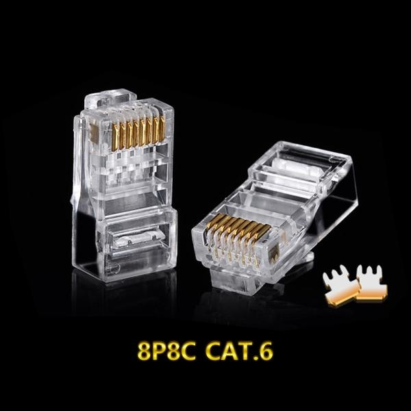 WHIZ RJ-45 커넥터, CAT.6 UTP [투명/100개] [CP012]