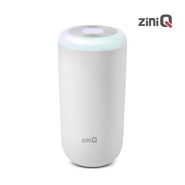 [지니큐]ZQ-HM300 LED 무드등 가습기 C타입전원포트 차량컵홀더형 [화이트]
