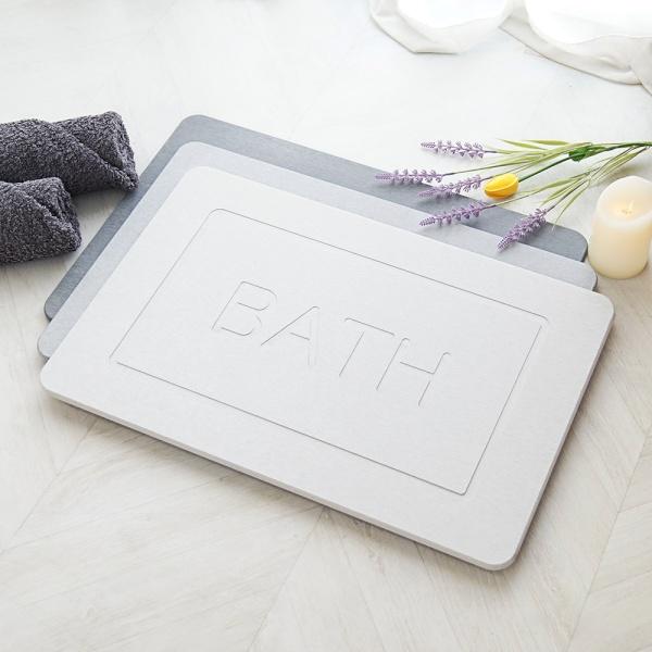 규조토 발매트(L) + 미끄럼방지패드 3D BATH 3컬러