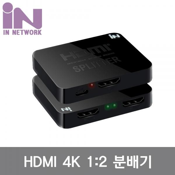 인네트워크 IN-MINIHD102 [모니터 분배기/1:2/HDMI/4K/오디오 지원]