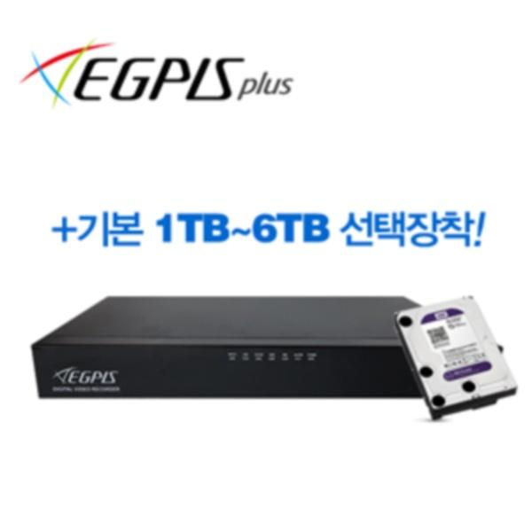 [이지피스플러스] 올인원 16채널 DVR 녹화기 WQHDVR-1610_265 [500만 화소/하드 6TB 포함]