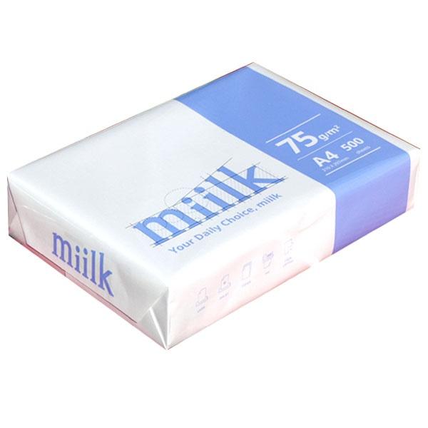 Miilk A4 복사용지 75g 1권 (500매) [무료배송]