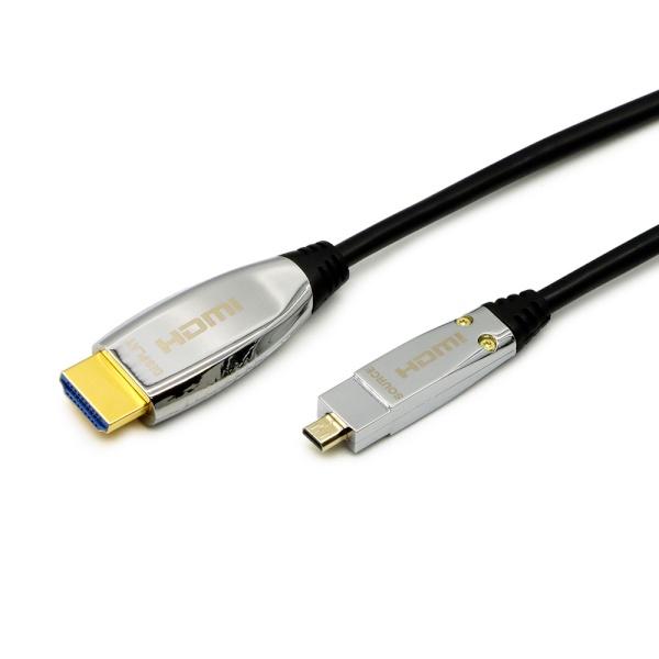 마하링크 하이브리드 광 HDMI to Micro HDMI 케이블 [Ver2.1] 80M [ML-A8C080]