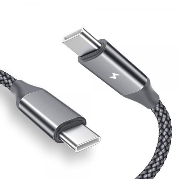 디씨네트워크 패브릭 USB C타입 to C PD 60W 고속충전케이블 그레이 [옵션 선택] 60cm